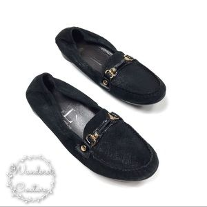 AGL Leather Horsebit Flat Round Toe Flats